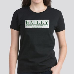 Bailey Bldg & Loan Women's Dark T-Shirt